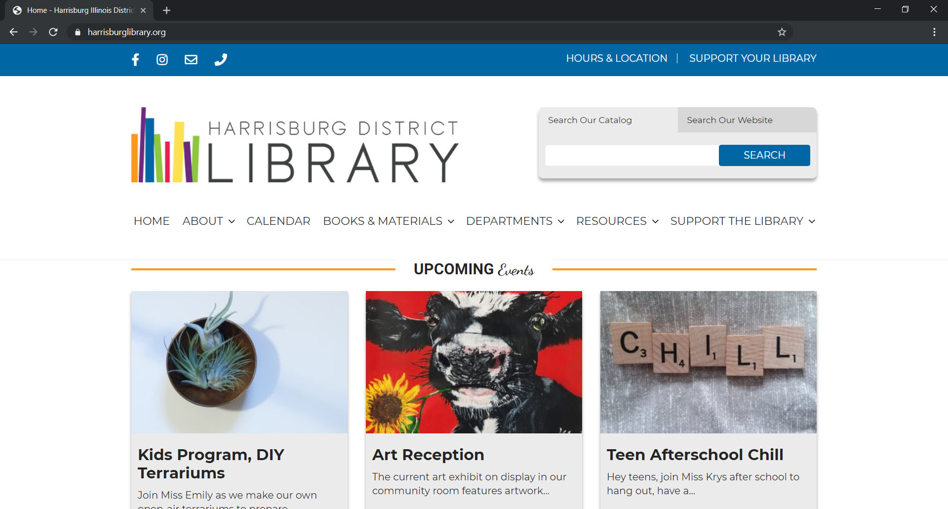 Harrisburg Library Website